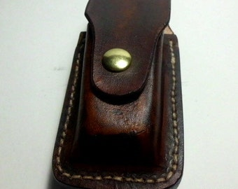 """leather knife sheath for the Gerber suspension / bear/ OHT / 5"""" needlenose/ PLEASE indicate what COLOR u want"""