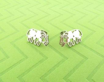 stainless steel elephant post earings