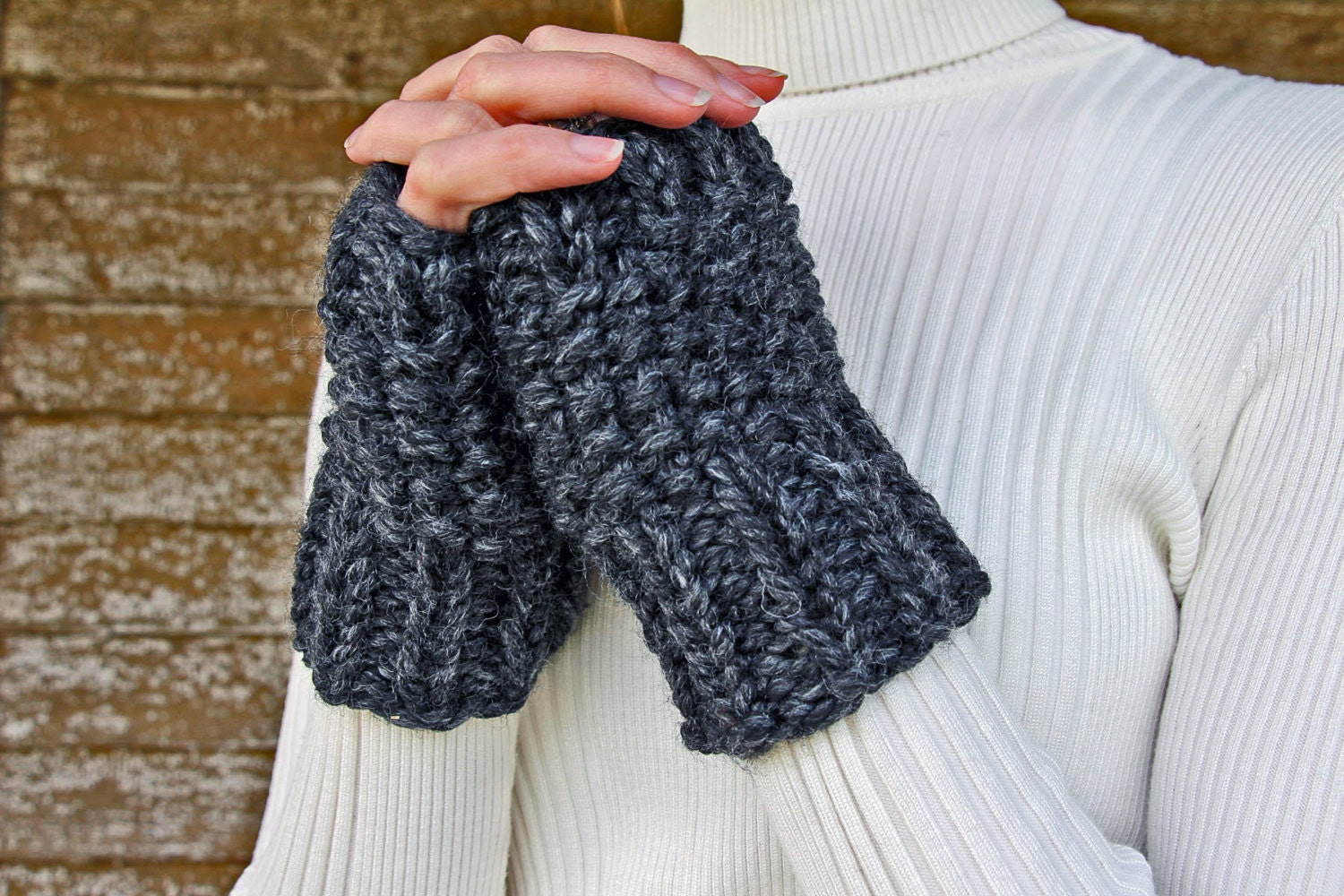 Knit Pattern Gloves Sock Yarn : Fingerless Gloves Knitting Pattern Leftover Yarn Pattern a
