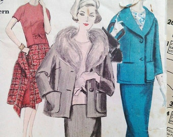 Vogue sewing pattern, Vogue Special Design 4027, Bust 38 inches, Skirt jacket suit 50s, vintage sewing patterns