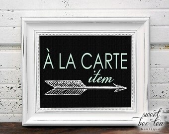 A La Carte Item - Purchase Any Single Item(s) From A Printable Party Package