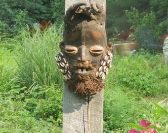 Amazing Antique African Carved Mask