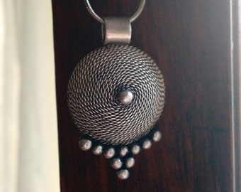 Moroccan Silver Pendent