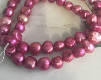 Purple Pearl, cultured freshwater, Elderberry potato, lavender pearls, supplies pearls,  (A1341CL)