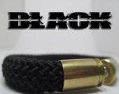 Black Bullet Casings Military, 2nd Amendment and Law Enforcement Support Bracelet