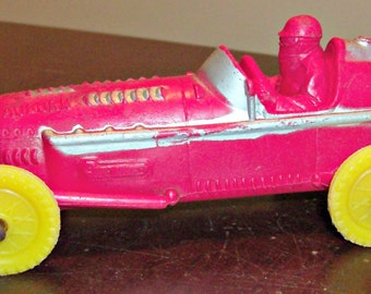 Vintage Auburn Red Rubber Toy Race Car