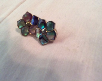Gold toned multi colored earrings