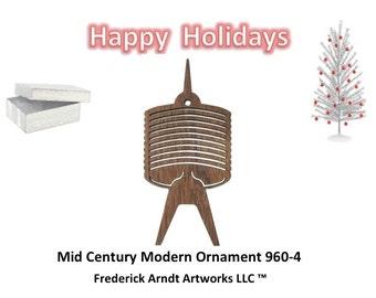 960-4 Mid Century Modern Christmas Ornament