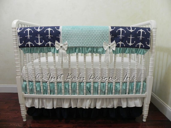 Nautical Baby Bedding Set Trista Baby Girl Bedding Anchor