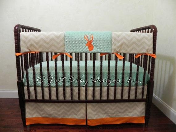 Deer Crib Bedding For Boys : Deer crib bedding set payne boy baby teething rail
