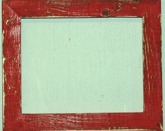 "1-1/2"" OKC Red Distressed Picture Frame"