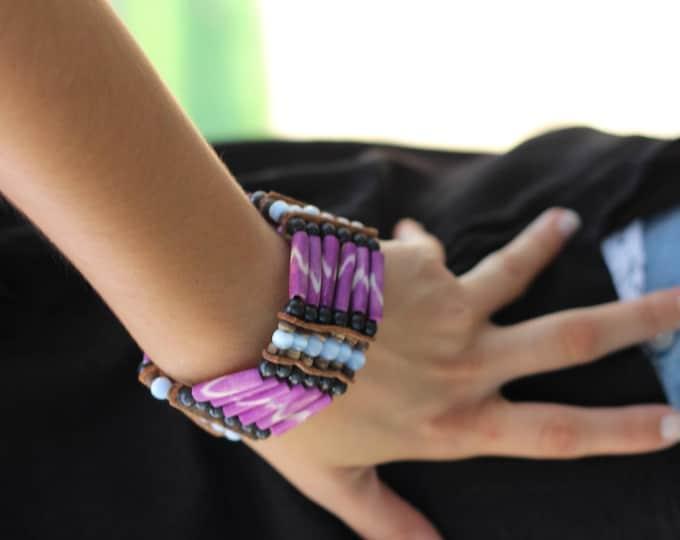 Purple Bone Bracelet,