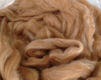 Ginger Alpaca Angora Silk Roving