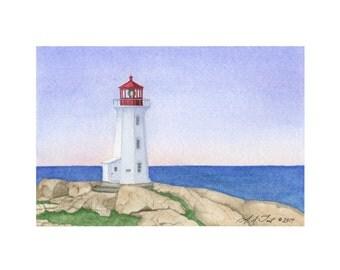 Peggy's Cove Lighthouse, Nova Scotia Giclée