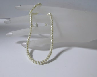 Ivory Pearls,  Glass Pearls,  Glass Beads,  Faux Pearls,  Celestial Pearls,  Strings Pearls,  Pearl strand,  4 mm, 16 inch strand Item 580