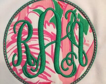 Lilly Fabric Monogram Patch Iron or Sew On