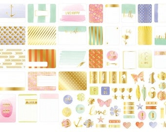 Project Life Becky Higgins Trinkets Gold Foil Kit - 130 Pieces