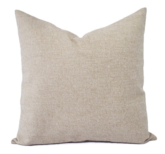 Decorative Burlap Pillow Covers : Two Decorative Throw Pillow Covers Burlap Pillows Beige