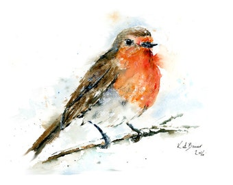 Red Robin - Print of watercolor illustration