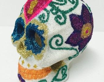 Glitter Dia de los Muertos Skull