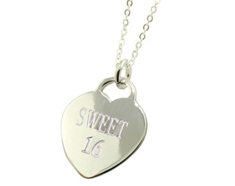 Sterling Silver Sweet 16 Necklace (Free Shipping)