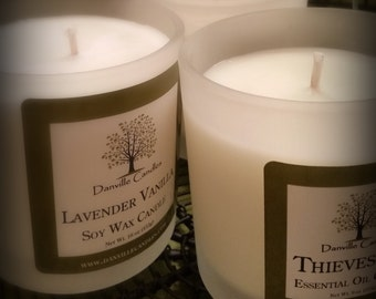 Lemongrass Aromatherapy Soy Candle Home Decor