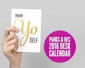 BUY 2 GET 1 FREE Sale - 2016 Parks and Rec Desk Calendar, Parks and Rec Calendar, Monthly Calendar, Bacon and Eggs , Quote Calendar