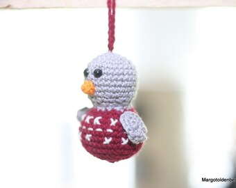 Crochet Crocheted christmas kerstmus/sparrow