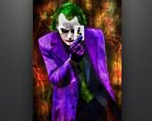 Joker 11X17 Art Print Poster by Herofied Batman Heath Ledger Clown Prince of Crime Dark Knight