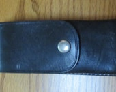 Vintage 80s Leather  Stun Zapper Case by Tex Shoemaker and Sons - Excellent Gift Suggestion, Mens Gift Suggestion