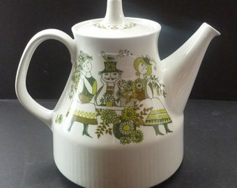 Hard to Find and Collectable NORWEGIAN Figgjo Flint Vintage 1960s Teapot MARKET Turi Design