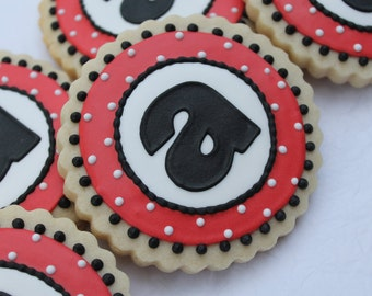 Ladybug Inspired Letter Cookies