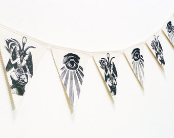 Bunting Baphomet. Banners. Fabric Bunting