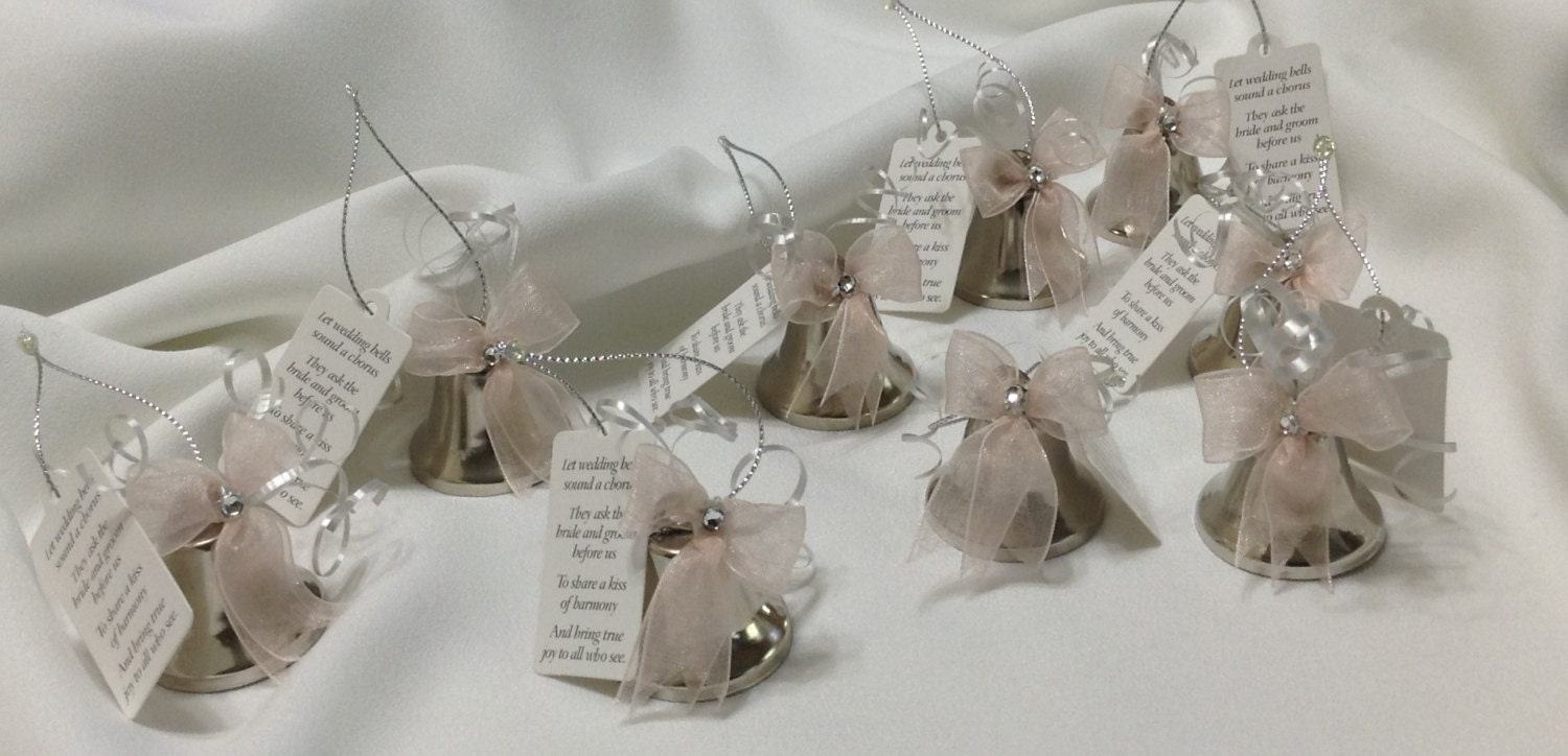 wedding bell favors kissing bells wedding shower favors