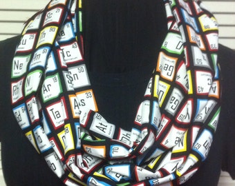 Chemistry Nerd Science Geek Periodic Tables Cotton Infinity Scarf