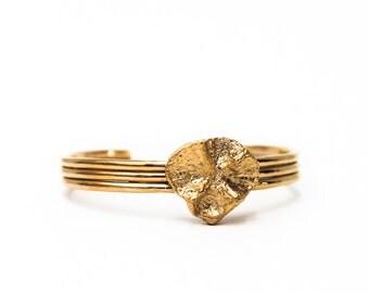 Bone bracelet 24kts gold plated