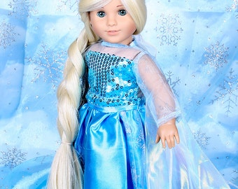 Made to order your Custom OOAK 18'' American girl doll Grace with new 18'' long hair and new outfit