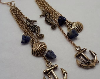 Nautical navy earrings
