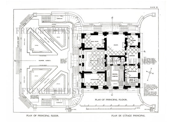 XL Petit Trianon Architectural Drawing Plans Palace of