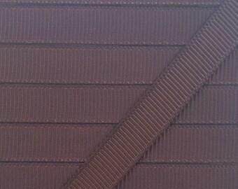 3/8 BROWN grosgrain ribbon