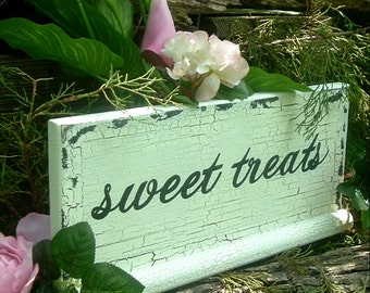 Sweet Treats Wedding Sign Rustic Wedding Sign Wood Sign Candy Bar Table Sign