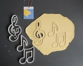 Musical themed cookie cut...