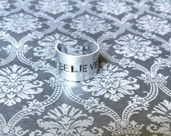 Believe Adjustable Finger Cuff