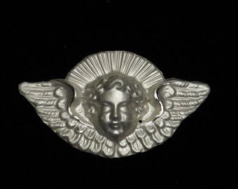 Antique French ornament of a sweet angel or cherub
