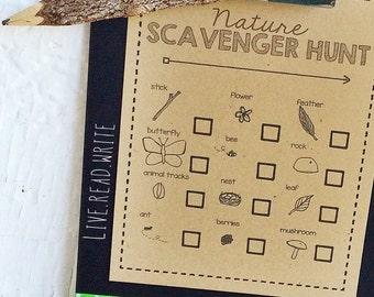 Nature Scavenger Hunt Kit {Set of 8}