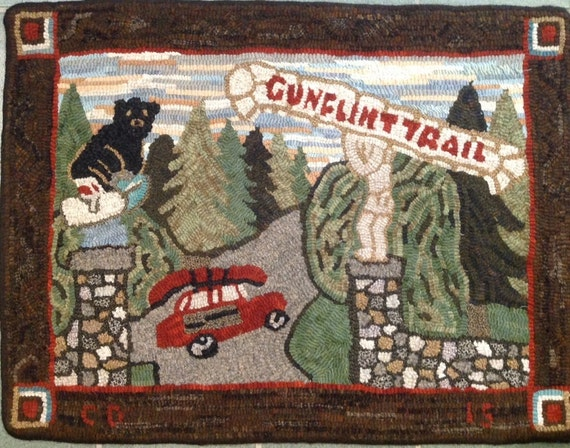 "Rug Hooking Pattern, ""Gunflint Trail"" 22""x 30""  P116"