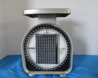 1995 PELOUZE POST OFFICE Scale with Zone Chart - 50 lb Scale - Pelouze Scale
