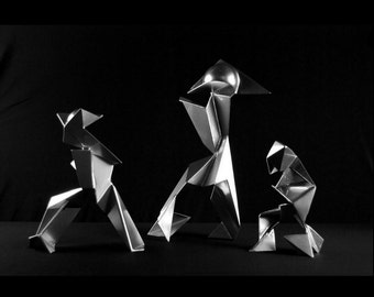 Shape-Shifter Series Small Direct Metal Art Collection Sculptures By Jacob Novinger