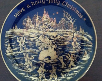 Germany Christmas Plate 1977