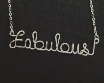 Fabulous necklace, Personalized necklace, wire wrapped necklace, wire name necklace, fabulous, personalized, name, personalized necklace